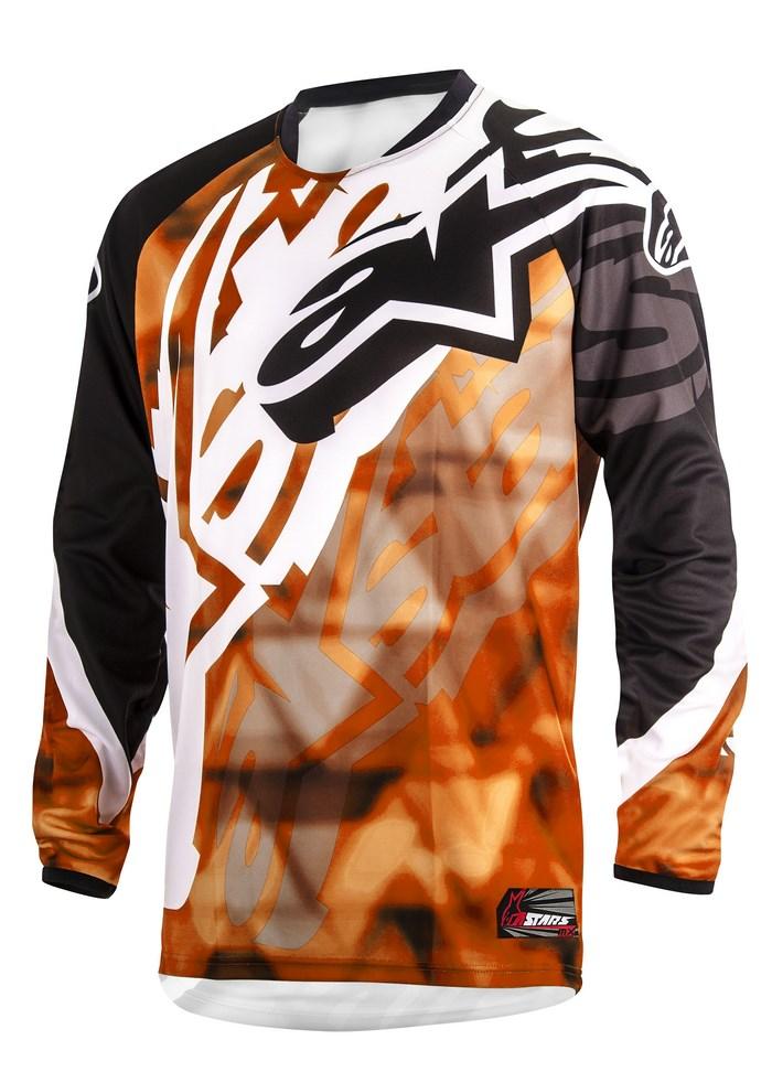 Maglia cross Alpinestars Racer 2014 arancio nero
