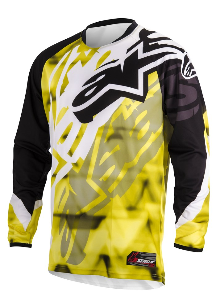 Alpinestars Racer 2014 offroad jersey yellow black