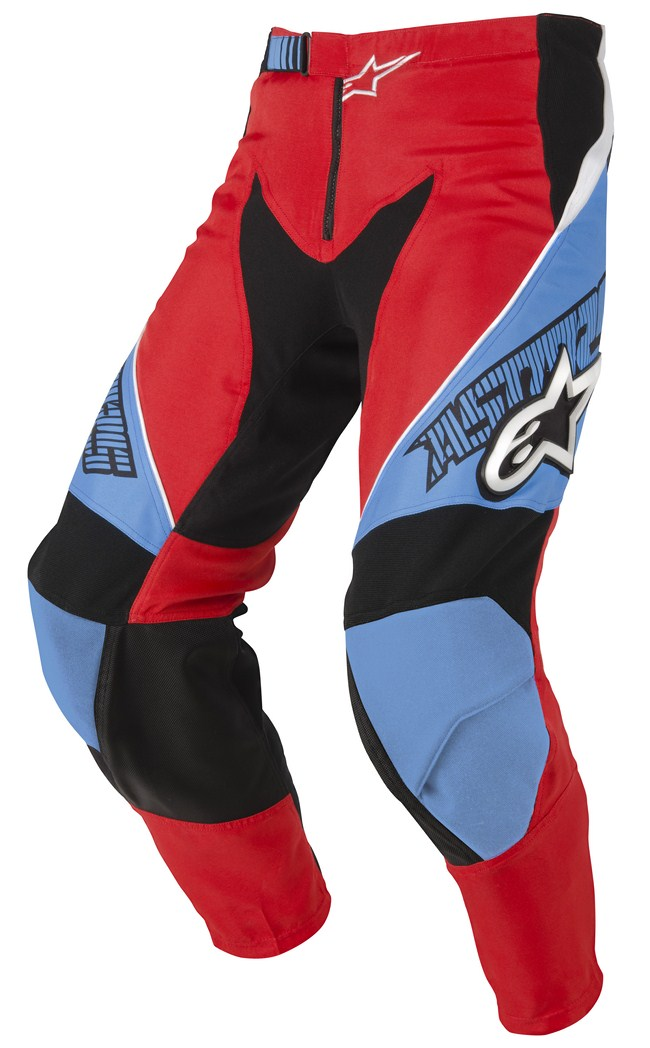Alpinestars Racer off-road pants red cyan black