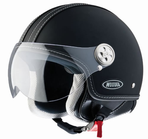 Casco D-jet Woodex Racer nero opaco