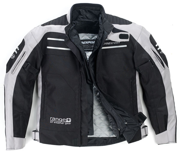 Prexport Range 3 layer waterproof jacket Black Grey