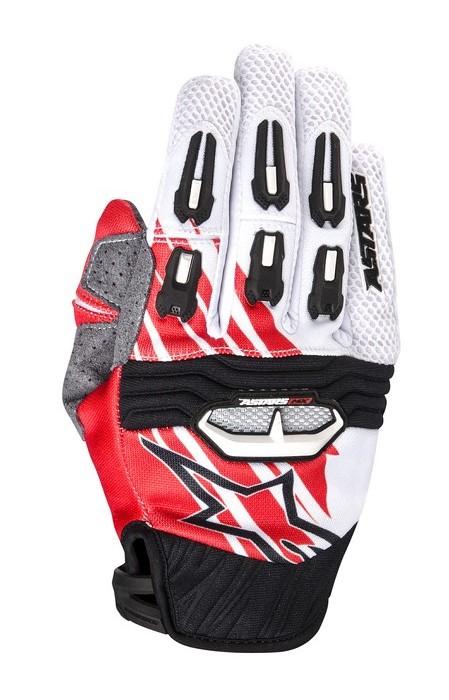 Alpinestars Techstar 2014 offroad gloves white red