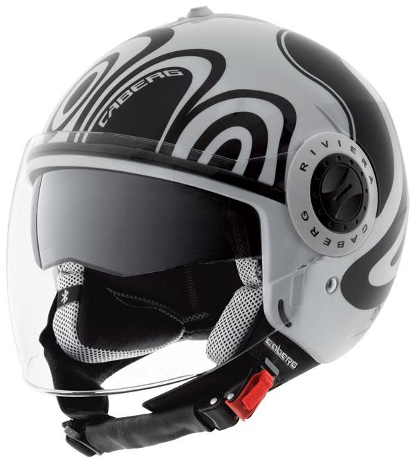 Caberg Riviera V2+ Wave jet helmet Black White