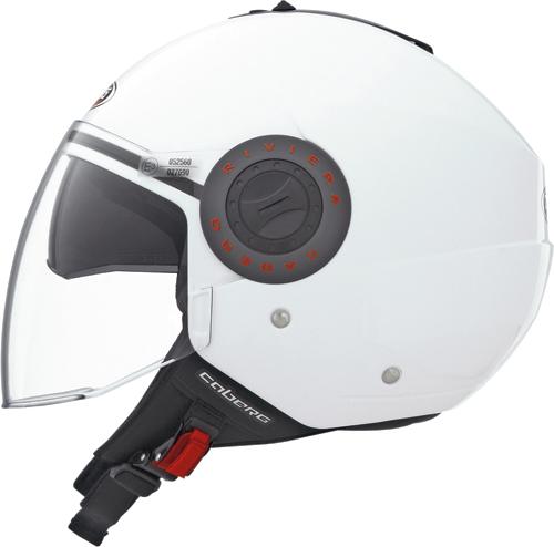 Caberg Riviera V2+ jet helmet col. white
