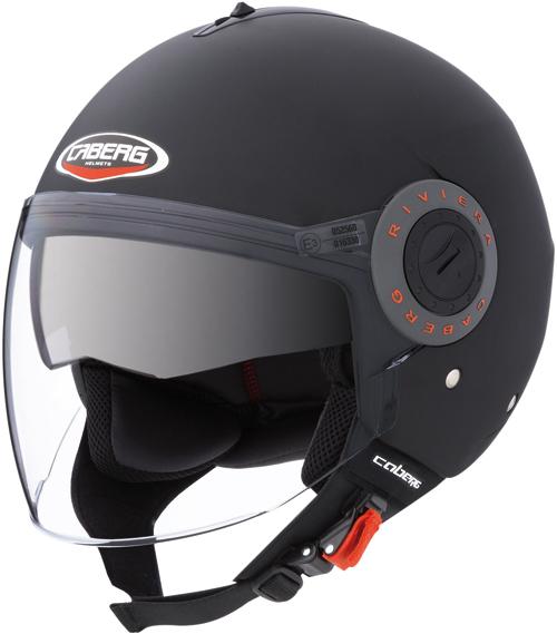 Caberg Riviera V2+ jet helmet col. matt black