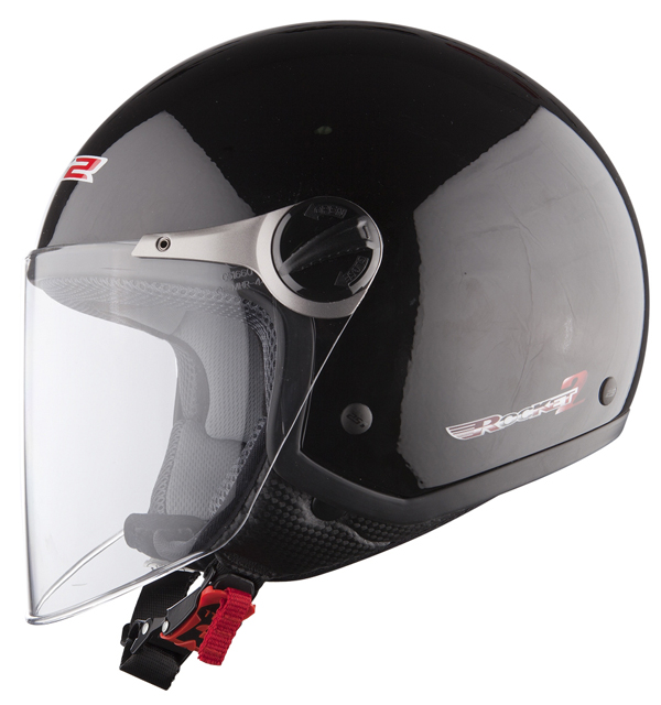LS2 OF560 Rocket II jet helmet Black