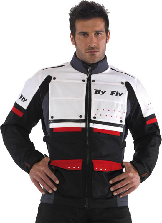 Hy Fly Roma Tex 2 layers jacket White Red