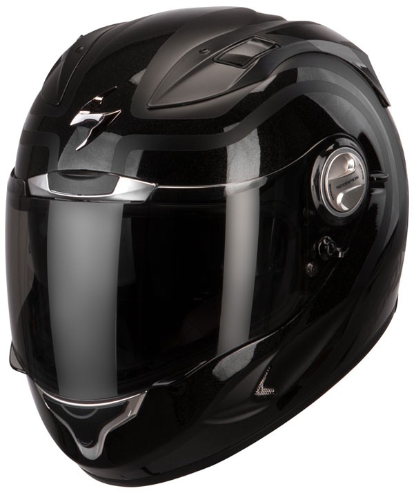 Casco integrale Scorpion Exo 1000 Air Round-Up Nero Opaco Lucido