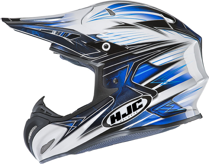 Casco cross HJC RPHA X Silverbolt MC2