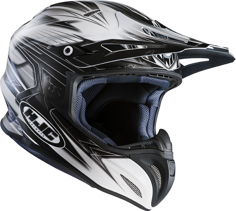 Cross helmet HJC RPHA X Silverbolt MC5