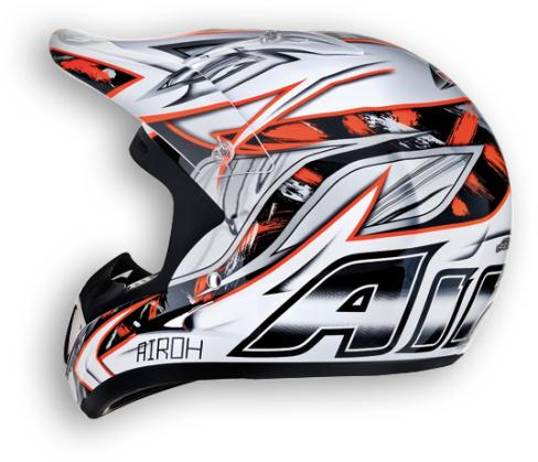 Casco moto cross Airoh Runner Spartan arancio