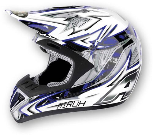 Casco moto cross Airoh Runner Spartan blu