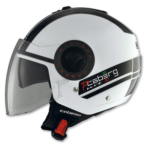 Casco moto Caberg Riviera V2+ Pure bianco-nero