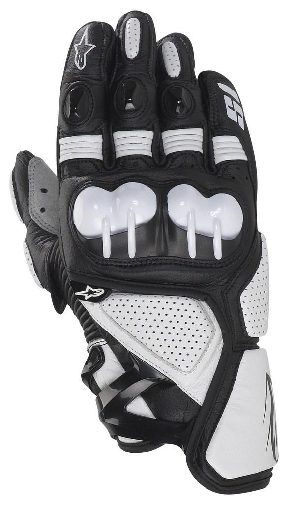 Guanti moto pelle Alpinestars S-1 nero-bianco