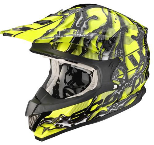 Scorpion VX 15 AIR OIL off road helmet NeonYellow-Black