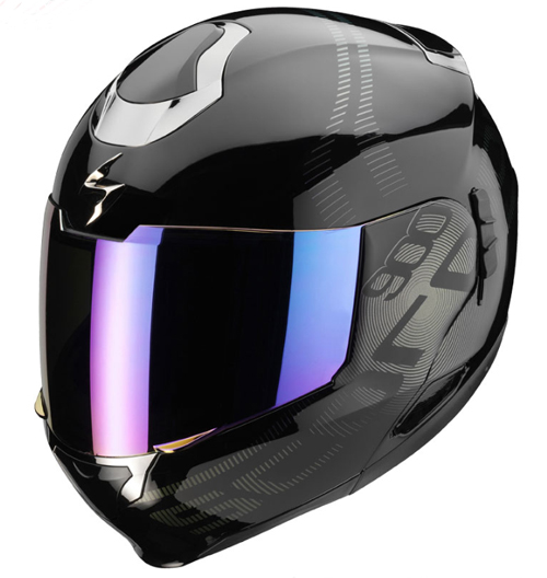 Scorpion EXO 900 AIR FURTIVE flip off helmet Black-Camaleon