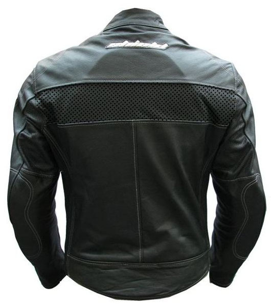 Giubbotto moto in pelle LRI Shield Eagle nero