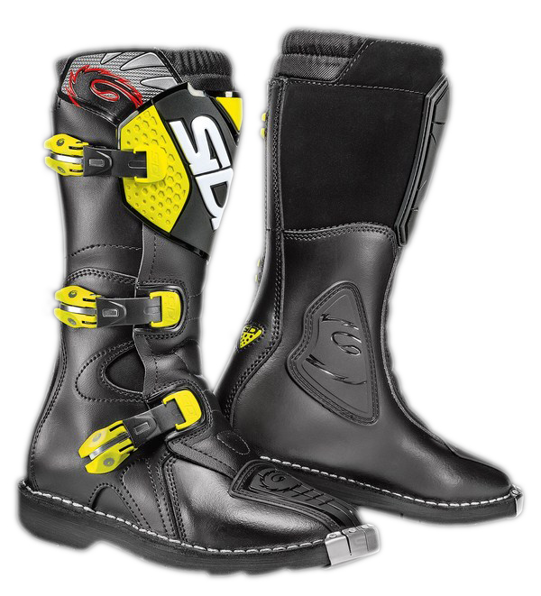 Stivali moto bambino Sidi Blitz nero-giallo fluo