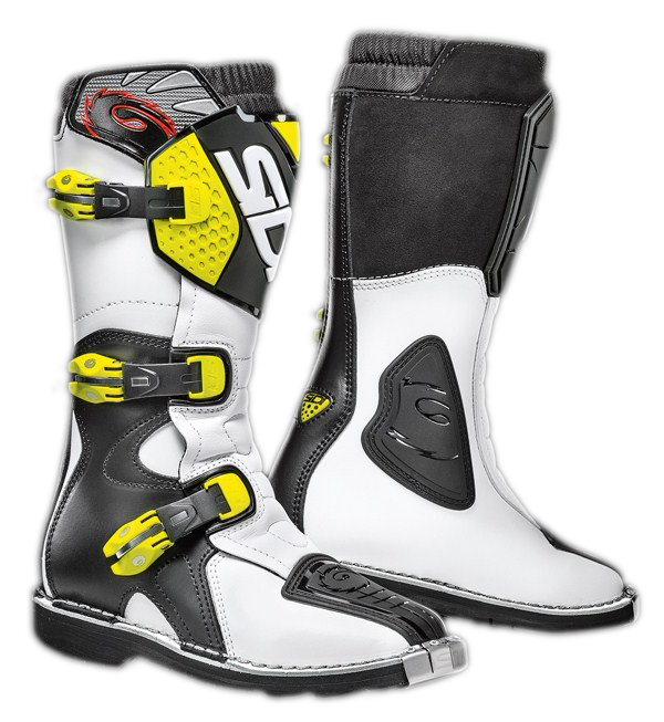 Sidi Blitz Junior boots white-black-yellow fluo