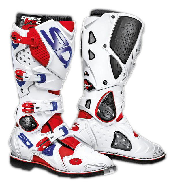 Sidi Crossfire 2 offroad boots red-white-blue