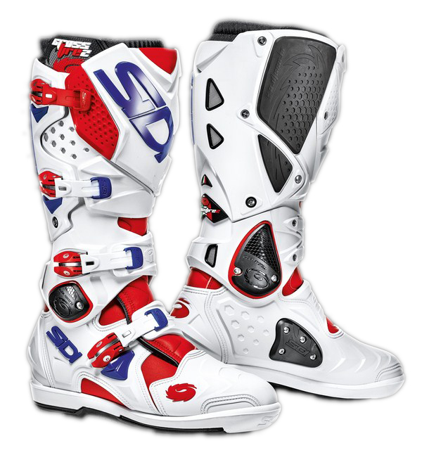 Sidi Crossfire 2 SRS offroad boots red-white-blue