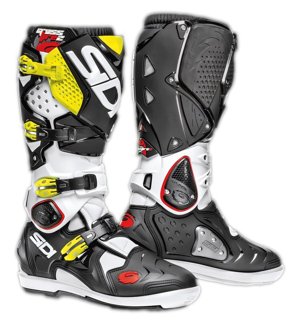 Sidi Crossfire 2 SRS offroad boots white black yellow fluo