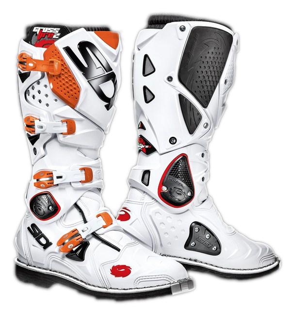 Stivali moto cross Sidi Crossfire 2 bianco-arancio