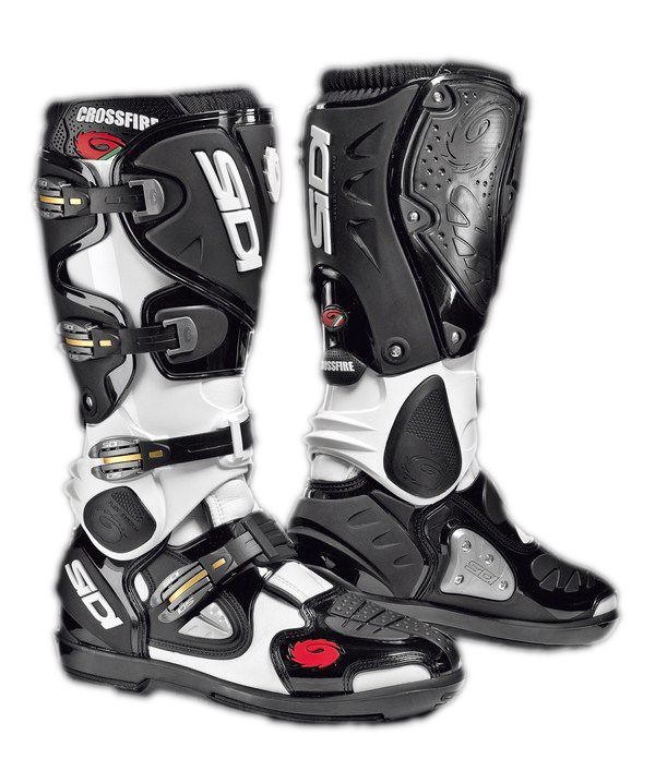 Sidi Crossfire SRS offroad boots white-black
