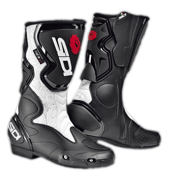 Stivali moto racing donna Sidi Fusion Lei nero-bianchi