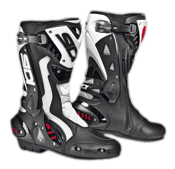 Sidi ST Air racing boots black-white