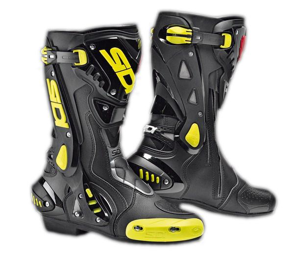 Stivali moto racing Sidi ST nero-giallo fluo