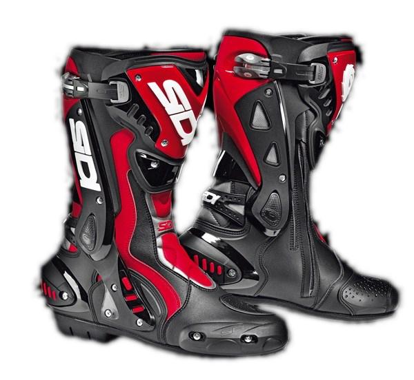 Stivali moto racing Sidi ST nero-rossi