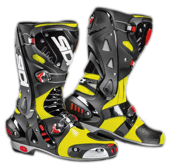 Sidi Vortice Air Vernice racing boots yellow fluo-black