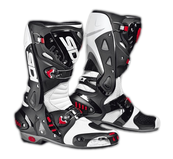 Sidi Vortice Air racing boots white-black