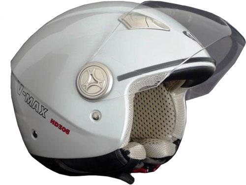 V-MAX HD306 open-face helmet col. white pearl