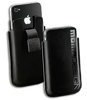 Custodia Momo Design Sleeve nera per Iphone 4