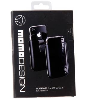 Momo Design Sleeve Black for Iphone 4