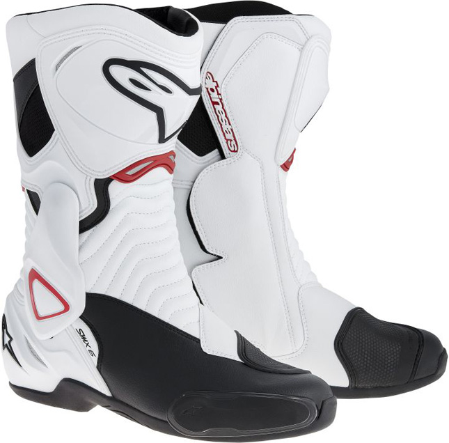 Alpinestars SMX 6 motorcycle boots white-black-red