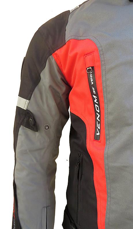 Venom Speed 3 layers jacket black red