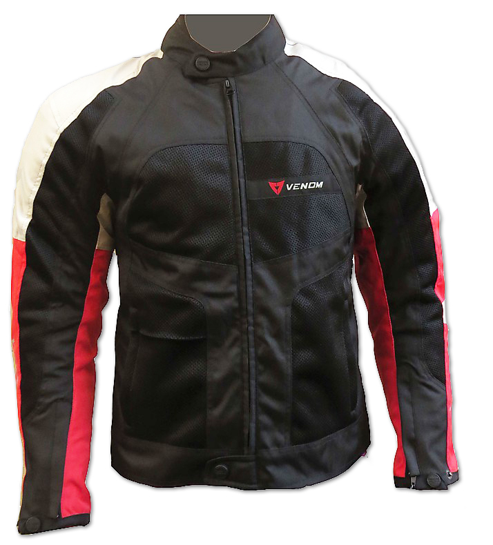 Venom Sport Air all seasons jacket black red silver