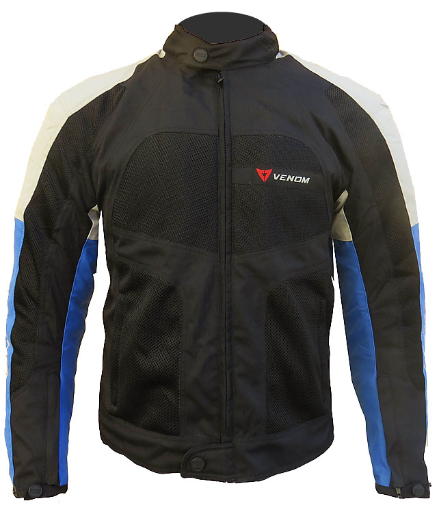 Venom Sport Air all seasons jacket Black Silver Blue