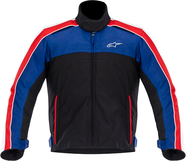 Giacca moto Alpinestars SOLARIS nero-bianco-blu-rosso