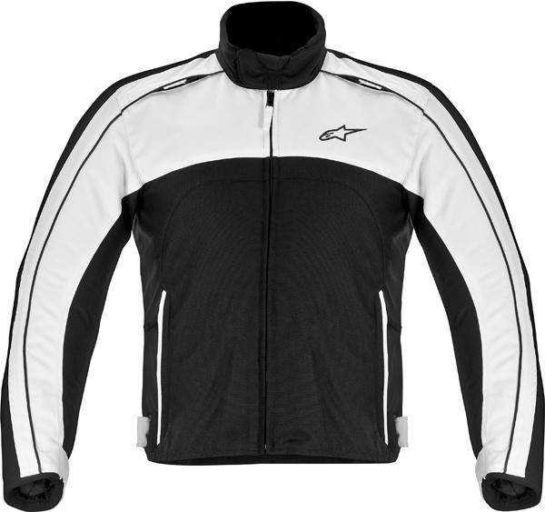 Giacca moto Alpinestars SOLARIS nero-bianco