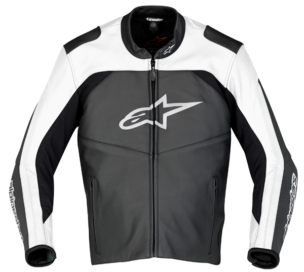 Alpinestars SP Leather motorcycle jacket black-white