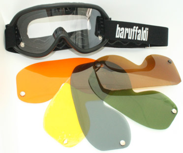 Baruffaldi Speed 4 neri goggles interchangeable lens