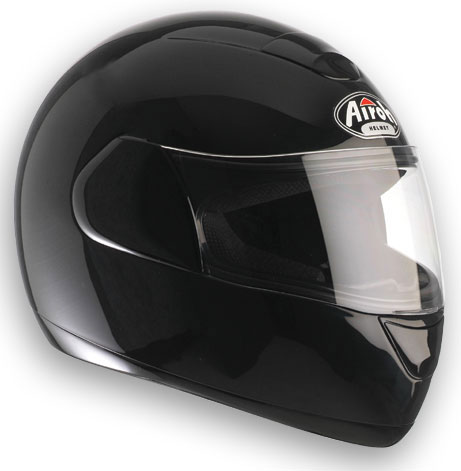 AIROH Speed Fire Color Full Face Helmet - Col. Gloss Black