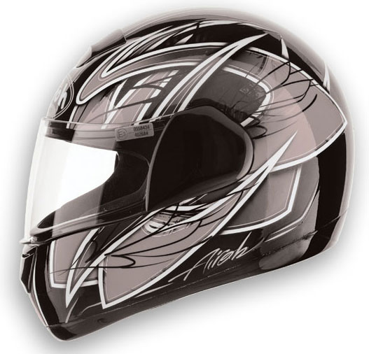AIROH Speed Fire Race Full Face Helmet - Col. Grey