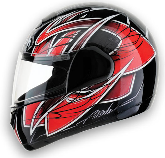 Casco moto Airoh Speed Fire Race Red