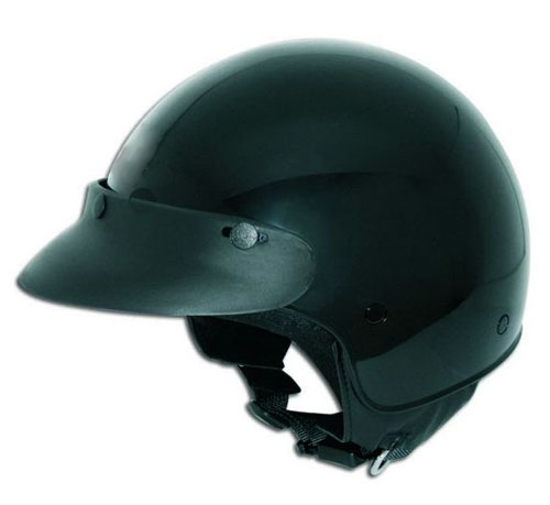 CTS 3 Snaps Open Face Helmet - Col. Black (not painted)