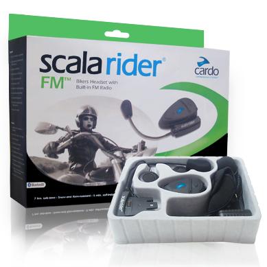 Interfono Cardo Scala Rider FM per gps e cellulari con radio FM